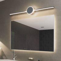 현대 노르딕 럭셔리 LED 미러 조명 벽 램프 욕실 침대 옆 거울 전면 램프 LED ac90-260v 홈 메이크업 간단한 거울 조명