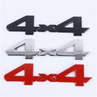 3D 4x4 Emblem Badge Autocollant de voiture Logo Décalque d'argent noir