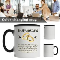 Mugs To My Husband I'm Not Perfect Mug Magical Color Change Cup For Reveals The Design Filled With Liquid FP8