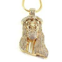Кулон ожерелья задолженности из кубического циркона корона Иисуса куска крупное религиозное ожерелье для мужчин хип-хоп христиан ювелирные украшения