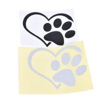 Auto Autoadesivo Autoadesivo Finestra del paraurti Adotta il Bully Heart Cat Dog Cane Laptop Boat Truck Auto Bumper Parete grafica cuore zampa vinile Decalcomania