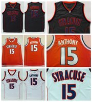 Vintage NCAA 15 Carmelo Anthony College Syracuse Basketball Jerseys # 22 Oak Hill High School cousu Shirts Jersey S-XXL