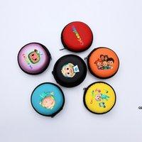 Cocomelon جي الأولاد الكرتون المطبوعة محفظة أكياس دائري جميل سماعة حزمة USB تخزين الأطفال طالب المحمولة عملة حالة DHF7