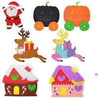 Fidget spielzeug party favor Push Bubble Halloween Weihnachtsgeschenke Theme Kürbiswagen Weihnachten Puzzle Haus Kinder Finger Spielzeug HWB10050