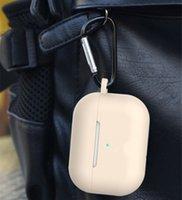 DHL gratis para Airpods Casos Pro / 3RD Generation Grossness de silicona 1.5mm y anti-gota Protección completa Earpods Funda con hebilla metálica