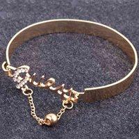 Fashion Jewelry Love Exquisite Bracelet Accessory Rhinestone Decor Stylish Hand Chain Ring Drop Shipping Elaborate Design