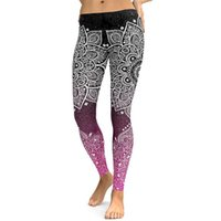 Yoga Fitness Supplies LI-FI Mandala Leggings Yoga Broek Vrouwen Fitness Push Up Strakke Wear Gym Training Sport Running Elastische