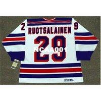 668s # 29 Reijo Ruotsalainen New York Rangers 1984 CCM Vintage Home Hockey Jersey oder benutzerdefinierte Neiner Name oder Nummer Retro Jersey