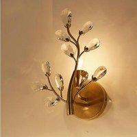 Vintage Design Gold Schwarz Kristall Wandlampe Lügst E14 Luminare Dia24 * H30 cm Indoor Wandleuchte