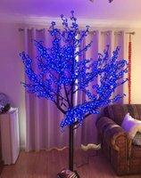 2 متر 6.5ft 1248 قطع أدى المصابيح ارتفاع أدى الاصطناعي الكرز زهر شجرة ضوء شجرة عيد الميلاد ضوء 110/220VAC المعونة في الهواء الطلق الاستخدام