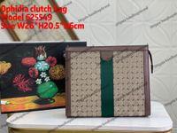 625549 Ophidiaクラッチバッグジッパー式トイレタリーポーチレザーPVCハンドバッグ財布イタリア男性女性封筒クラッチ有名な財布キーポーチフォルダサイズ26 * 20.5 * 6cm