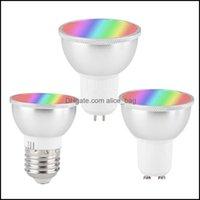 Éclairage Ampoules Tubes Lumières Lightingwifi Smart Light Bulb GU10 E27 GU5.3 Lampe LED RGBW 6W 3000K Changement de couleur pour salon salle de bain