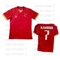 El Ahly Kahire Futbol Jersey Mens # 7 M.Kahraba M.Afsha Üniforma 2021 # 14 H.elshahat Futbol Gömlek