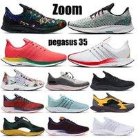 2021 Turbo apenas gris Punch Black Blanco Zapatos Chaussures Hombres Mujeres Reaccionar Zoom X Pegasus 35 Entrenadores Zapatilla