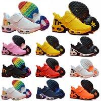 Nike Air Mercurial Max Plus Tn Tn mais kpu botão mágico almofada treinador crianças correndo sapatos menino menina jovem garoto esporte crianças sneaker qualidade superior