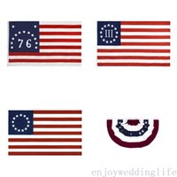 DHL Versand 90 * 150cm 13 Sterne US USA 1777 Amerikanische Betsy Ross Flag Unabhängigkeitstag-Flagge CPA3278