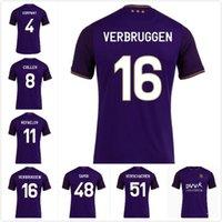 Hombres Top 21 22 RSC Anderlecht Jerseys Soccer Sambi 48 Verschaeren 51 Larsen 11 AMUZU 40 Cullen 8 Hogar Away 2021 2022 Classic Sports Jersey Football Shirts