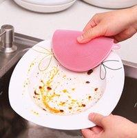 NewMultifunzionale Pennello per lavastoviglie per lavastoviglie Silicone Silicone Non-Stick Oley Materiale Salviette Isolanti di calore Pads Coasters Brushes Pentole e CCD8
