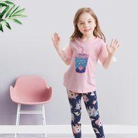 مجموعات الملابس nnjxd الفتيات مجموعة ل عارضة 2 قطع قمم و طماق 3-8t القطن ارتداء الأطفال ملابس الأطفال