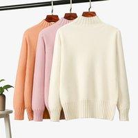 2021 New Winter TurtleNECK caldo di pelliccia di pelliccia di pelliccia spessa a maniche lunghe coltivazione a maglia maglione donna maglione di natale u05r