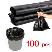 (596x08) Sacos de lixo plástico preto lixo limpo usar bolsas não vazamento malas de lixo 100 pcs