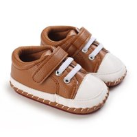 First Walkers Baby Shoes Born Boys Sneaker Girls Kids Toddlers PU Leather Soft Soles Sneakers 0-18 Months