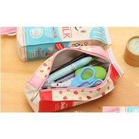 Pu criativo simulação leite caixas lápis caso kawaii papelaria bolsa bolsa de caneta moeda pu jllkpc mx_home