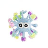 5 inç havalandırma fidget oyuncaklar dışbükey göz aydınlık kirpi çok kafa ahtapot parıltılar hed deniz kestanesi led parlayan top oyuncak