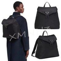 حقيبة الظهر عالية الجودة للجنسين 2021 حقيبة مدرسية فاخرة مصمم رجال حقائب الظهر السوداء متوسطة الأزياء، مع جيوب النساء الثلاثي