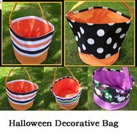 Gift Wrap 15pcs Lot Halloween Buckets Tote Bag Portable Pumpkin Basket Candy Bags Trick Or Treat Happy Gifts