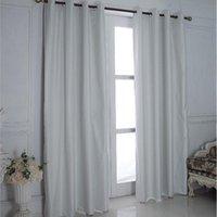 Curtain & Drapes Polyester Fiber Blackout Bedroom Window Waterproof Bathroom Shower Outdoor Garden Ring Hole