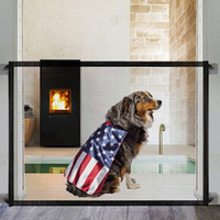 31in 41in Sihirli Kapısı Köpekleri Pet Güvenlik Kapısı Mesh Köpek Kapısı Taşınabilir Katlanır Güvenli Guard Herhangi Bir Yere Kadar Kurulum Salon Kapısı için Güvenlik Çiti - Koku