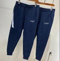 Neue dunkelblaue Herren Hosen Designer Jogger Track Hose Mode Marke Jogger Kleidung Seite Streifen Kordelzug Hose Männer Marke Sport Hosen