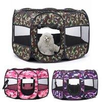 Дома собаки питомники аксессуары складной дышащий домик ящик для домашних животных палатка PLAYPEN портативный щенок клетки для маленьких больших кошек собаки камуфла