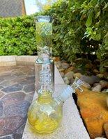 26 cm 11 zoll Glasbongs Gelbweinlese Sortierte Farbe Hukahn Twisted Filter Rohr Öl Rigs Bubbler Water Pipe Bong 14mm Schüssel