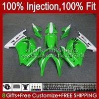 Injection pour Kawasaki Green Glossy Ninja ZX250R ZX 250R ZX250 13HC.104 EX50 EX250R 08 09 10 11 12 ZX-250R 2008 2009 2010 2011 2012