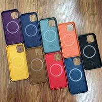 Casos de telefone celular PU Couro oficial caso para iPhone 12mini 12 Pro Max Magsafe Função