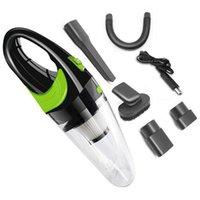 قوية لاسلكية USB شحن سيارة مكنسة كهربائية 120 واط المحمولة مكنسة كهربائية المحمولة الرطب / الجافة للسيارة المنزلية