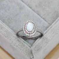 Hearts Chrome S925 Sterling Silver Deluxe Oval Australian Diamond Ring Exaggerated Design Engagement