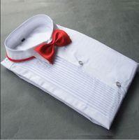 Хлопковые жениха с длинным рукавом рубашки Лучший мужской рубашка с длинным рукавом белая рубашка