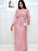 Ethnic Clothing African Sequin Red Dress Clothes Kenya South Africa Evening Party Super High Quality Women Vestidos Robe