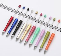 mix color add a beads ballpoint promotional Kids Play Christmas Gifts Creative DIY cheap plastic Beadable pens bead ball pen GD164 161 S2