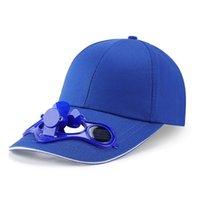 2020 Estate Pannello solare Solare Powered Raffredding Fan Baseball Cappello da baseball Outdoor Peaked Sun Visor Hat C0305 Y0910