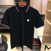 Tasarımcı Erkek Monclair Polo Gömlek Kadın T-Shirt Moda Giyim Nakış Mektup Iş Kısa Kollu Calssic Tshirt Kaykay Casual Tops Tees 001