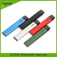 충전식 일회용 vape 펜 키트 C107 DCPOD 카트리지 빈 포드 0.5ml 및 두꺼운 오일 기화기 대 1.0ml 케이크 델타 8 D8 장치