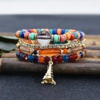 Эйфелева башня подвесной браслет из бисера для женщин Богемский этнический стиль ручной работы браслет мужских романтических украшений
