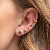 Stud Cute Colorful Animal Crystal Little For Girls Women Children Birthday Gift Lovely Earring 2021 Trend Jewelry