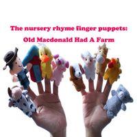 الكرتون مزرعة الحيوانات المزارعين الاصبع دمية، قديم ماكدونالد كان مزرعة، التعليم المبكر لعبة أفخم، التفاعل بين الوالدين والطفل، عيد الميلاد كيد هدية، 2-1
