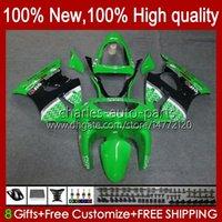Fairings Kit For KAWASAKI NINJA ZX-6R ZX-636 ZX600 ZX600CC 98-99 Bodywork 16No.9 ZX-600 600CC ZX636 ZX6R 98 99 ZX 636 600 CC 6 R 6R 1998 1999 Motorcycle Bodys green black