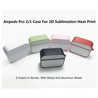 Airpods Pro Cases With Glue And Aluminum Sheet For 2D Sublimation Heat Press Pritning DIY Personalized Design Airpod 2 Case